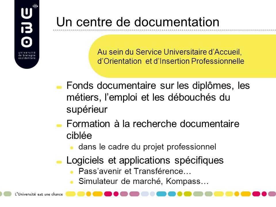 Un centre de documentation