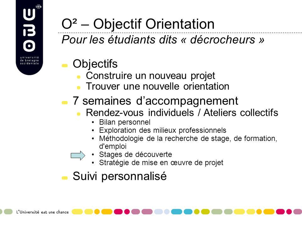 O² – Objectif Orientation Pour les étudiants dits « décrocheurs »