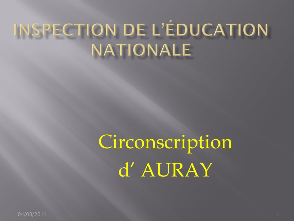 Inspection de l'Éducation Nationale