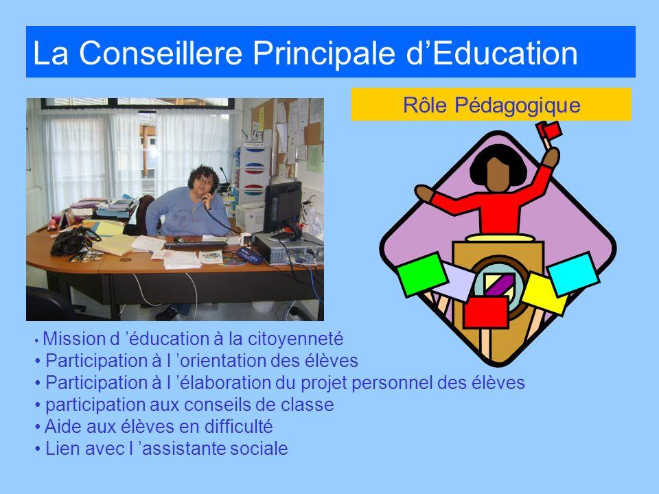 La Conseillere Principale d'Education
