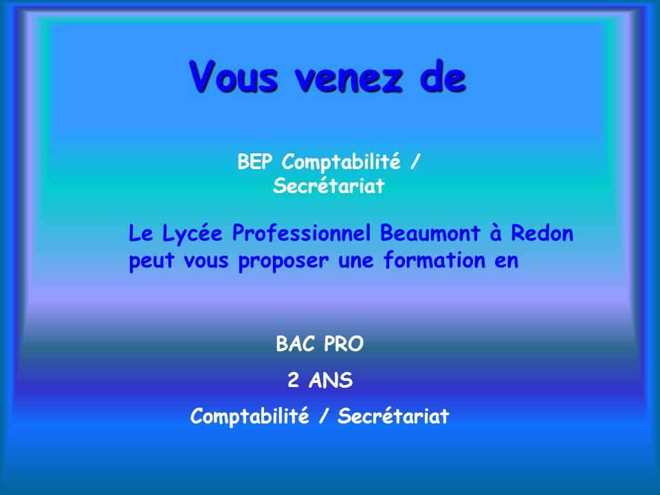 BEP Comptabilité / Secrétariat Comptabilité / Secrétariat