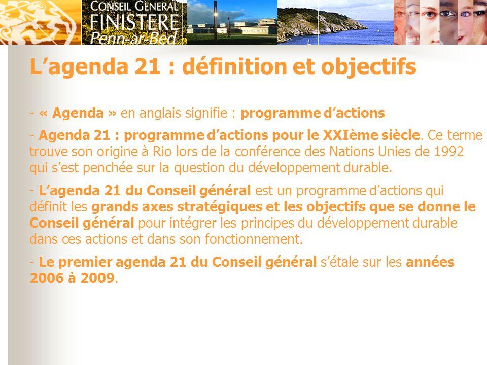 L'agenda 21 : définition et objectifs