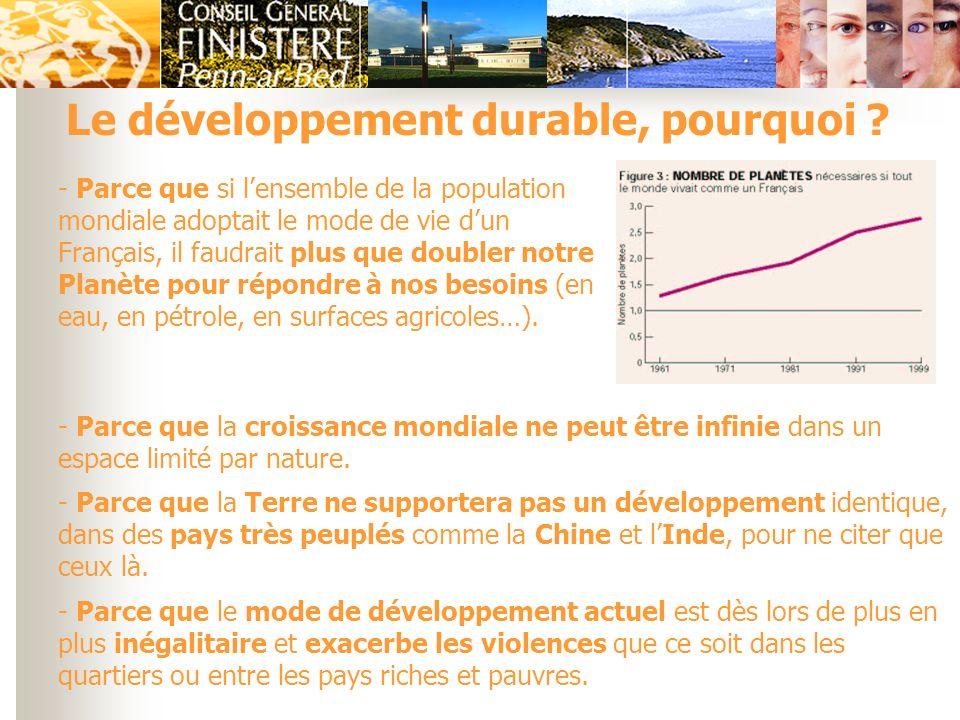 Le développement durable, pourquoi