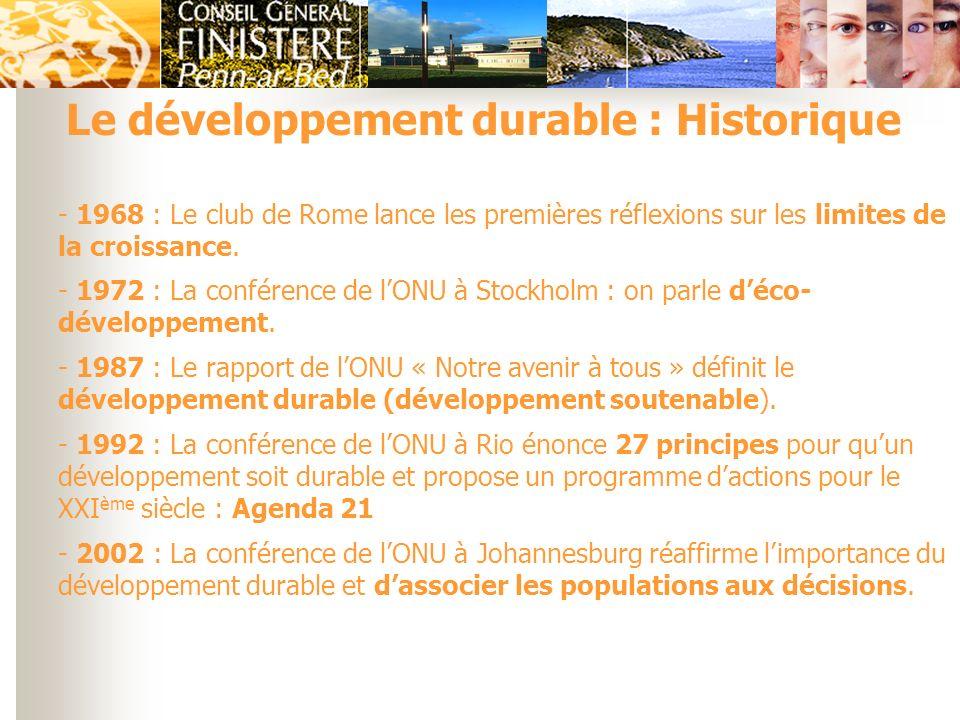 Le développement durable : Historique
