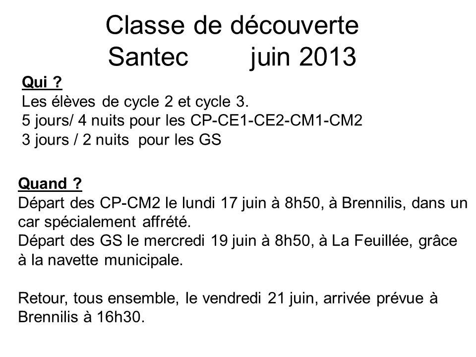Classe de découverte Santec juin 2013