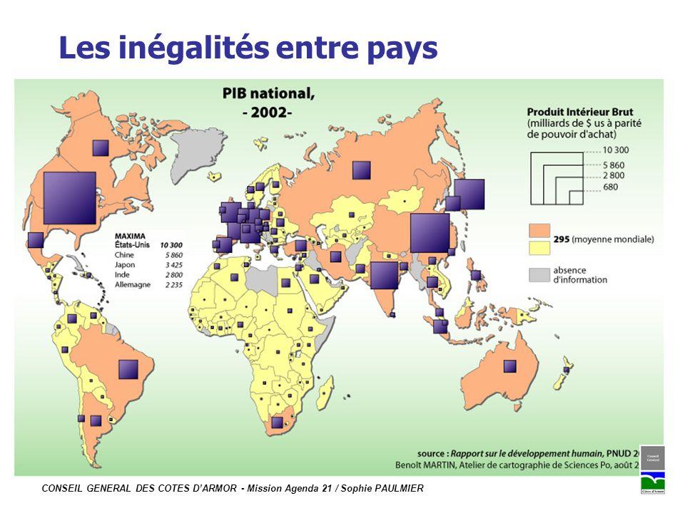 Les inégalités entre pays