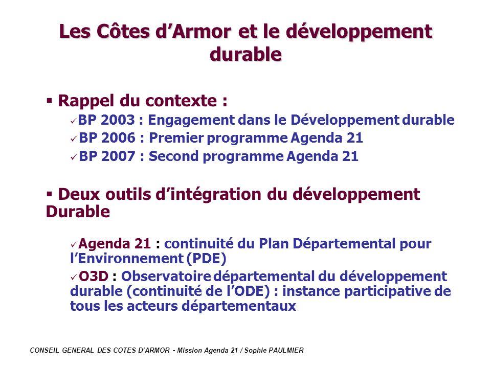 Les Côtes d'Armor et le développement durable