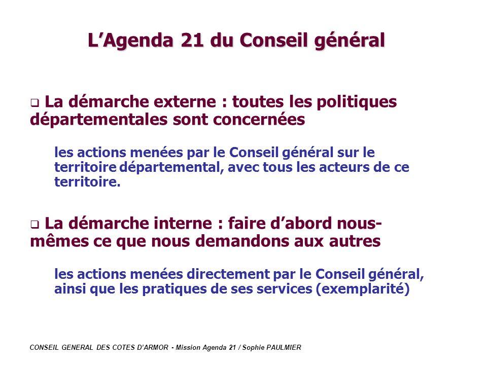 L'Agenda 21 du Conseil général