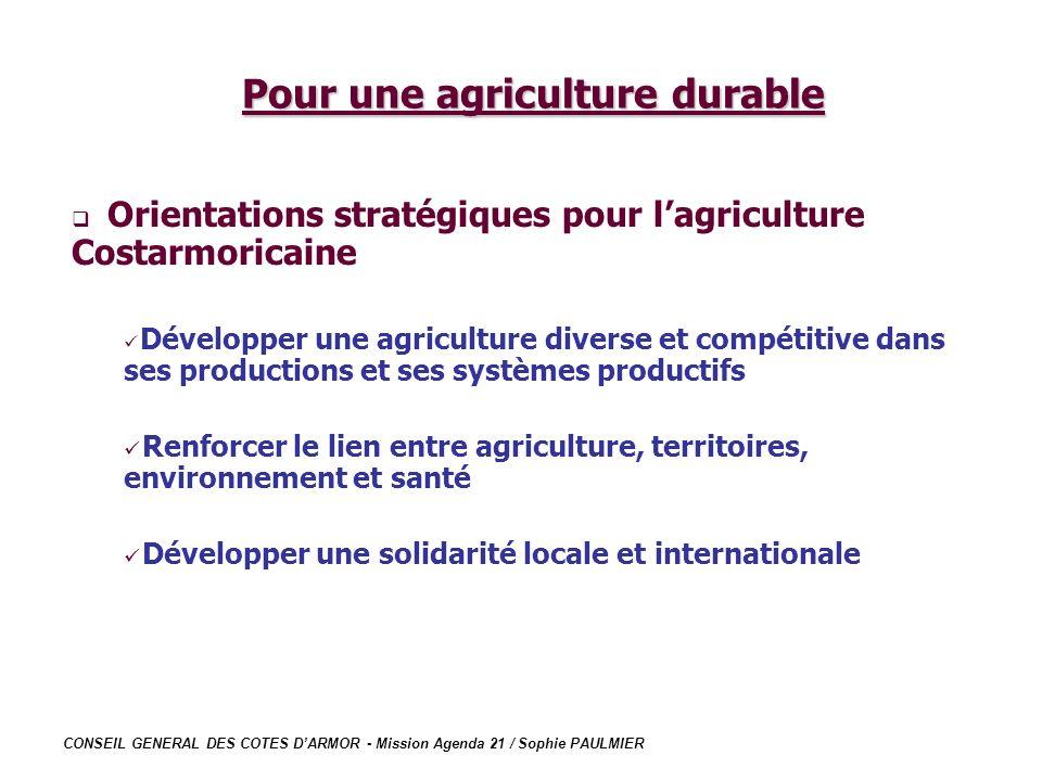 Pour une agriculture durable
