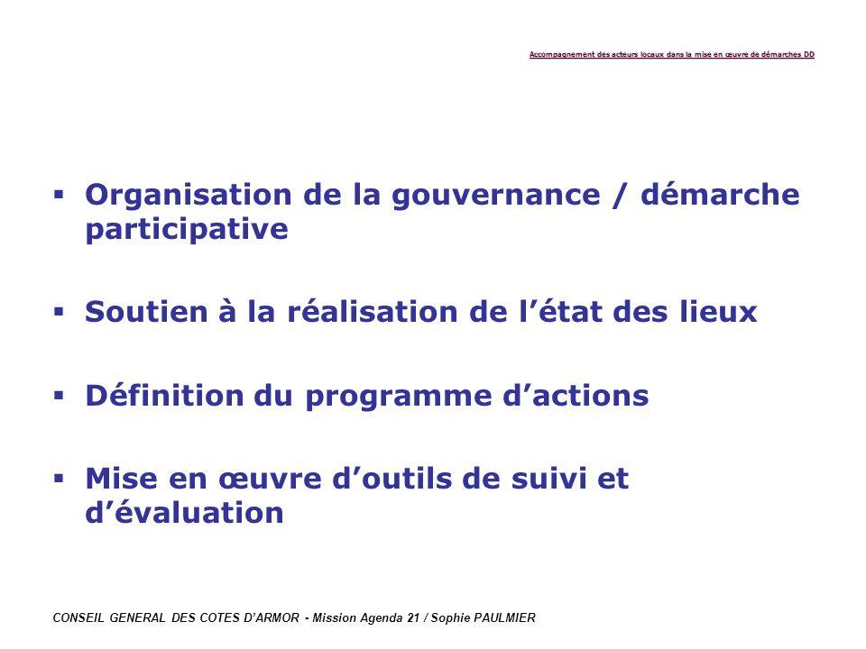 Organisation de la gouvernance / démarche participative