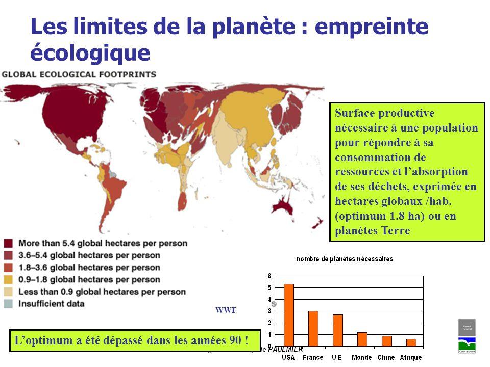 Les limites de la planète : empreinte écologique