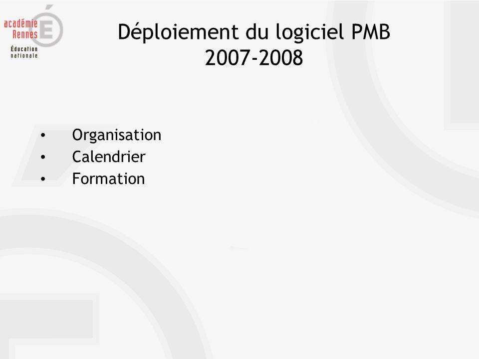 Déploiement du logiciel PMB 2007-2008