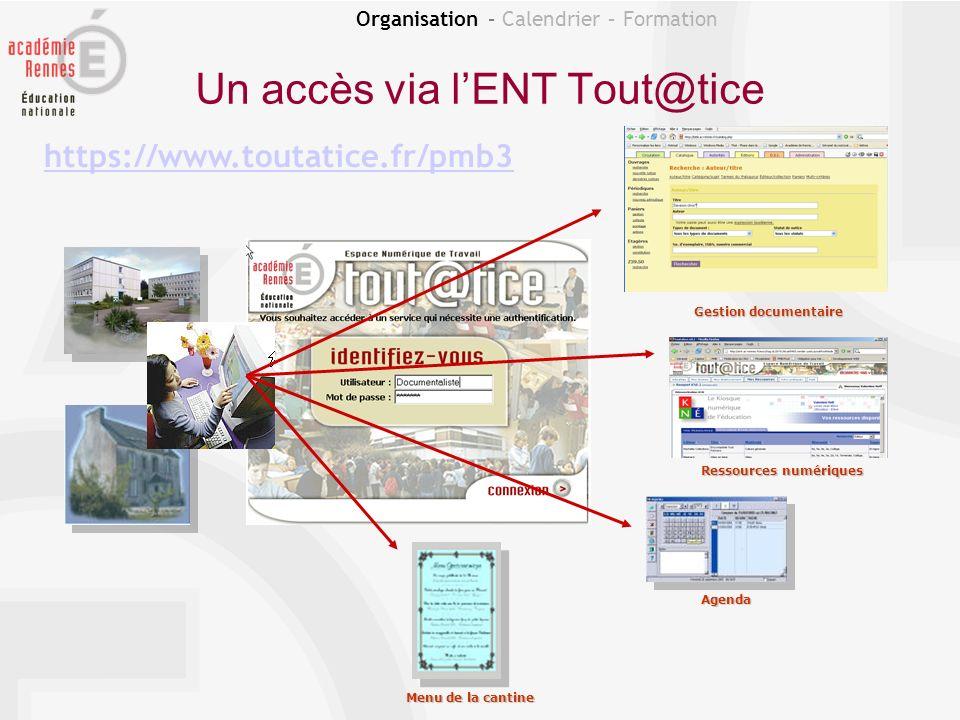 Un accès via l'ENT Tout@tice