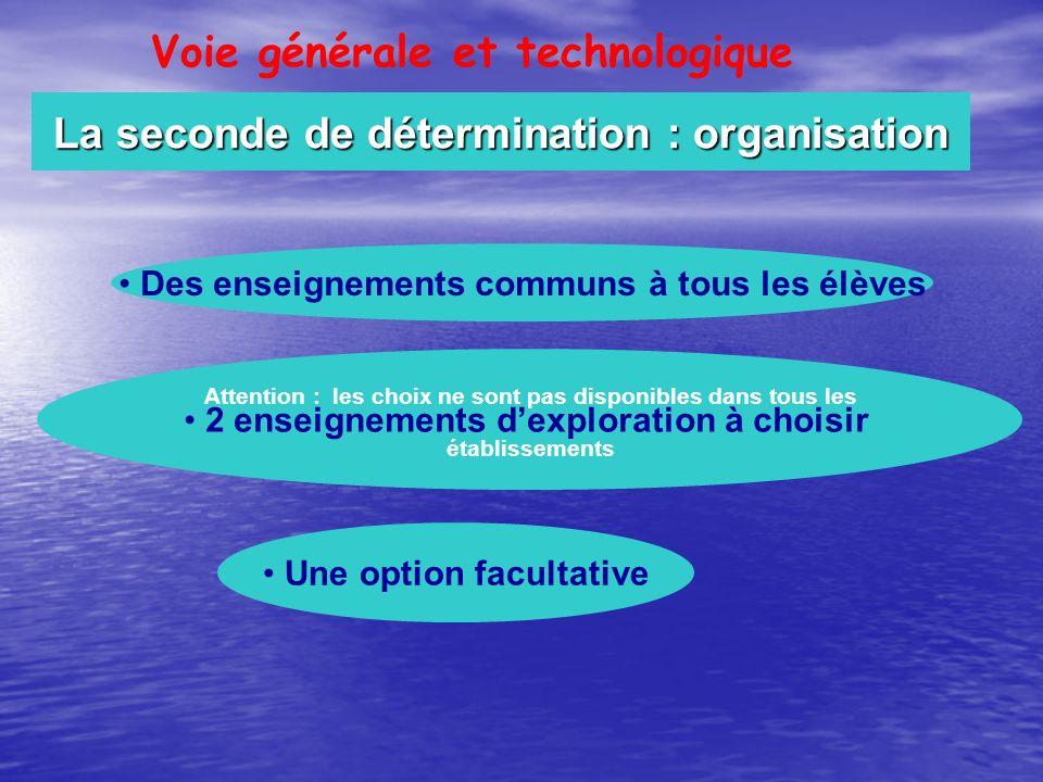 La seconde de détermination : organisation
