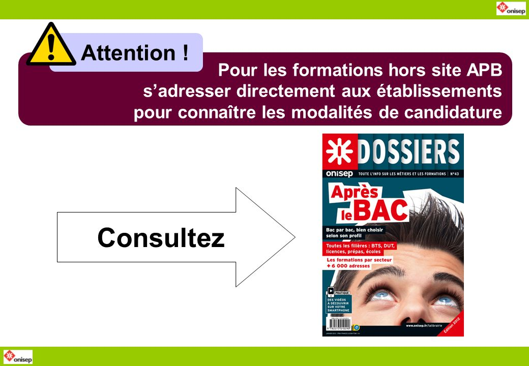 Consultez Attention ! Pour les formations hors site APB