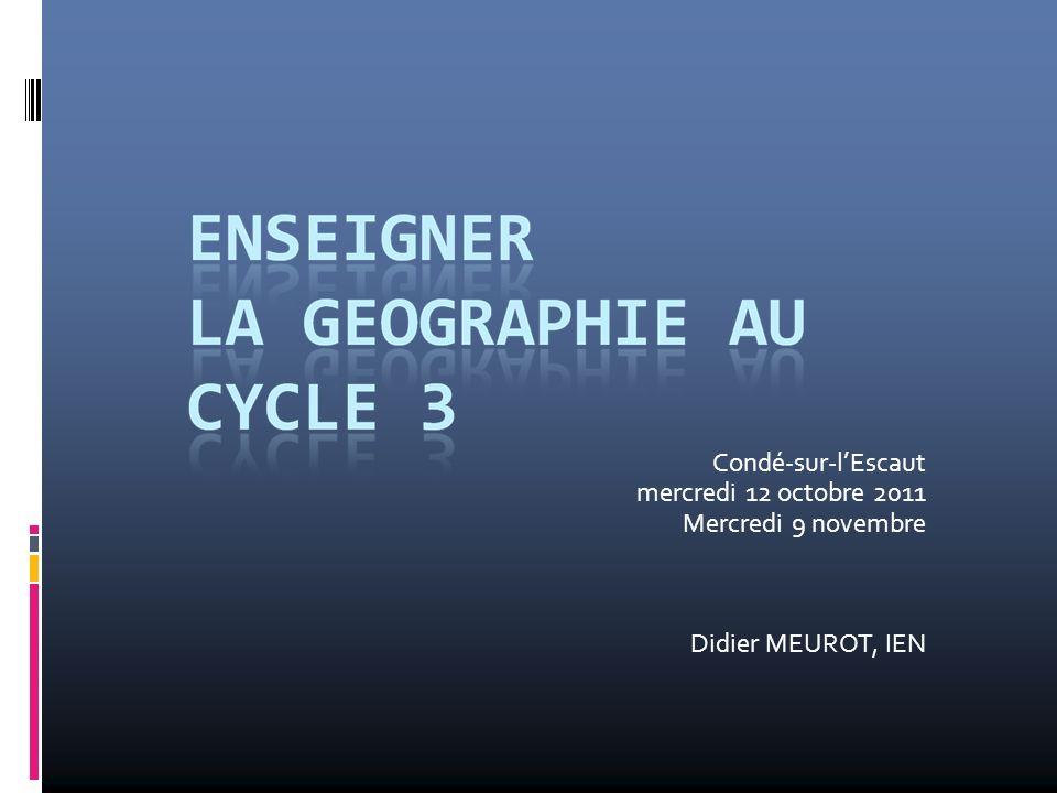 Condé-sur-l'Escaut mercredi 12 octobre 2011 Mercredi 9 novembre Didier MEUROT, IEN
