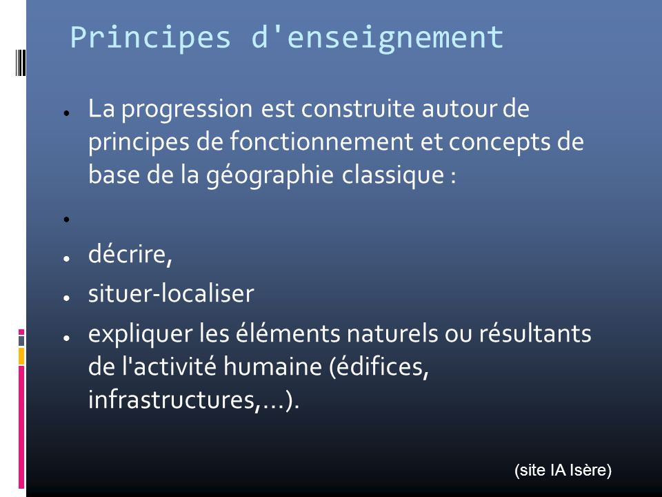 Principes d enseignement