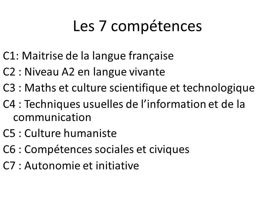 Les 7 compétences
