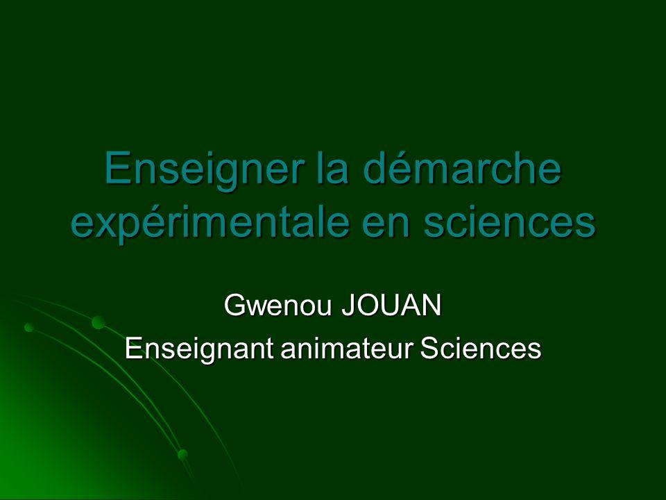 Enseigner la démarche expérimentale en sciences