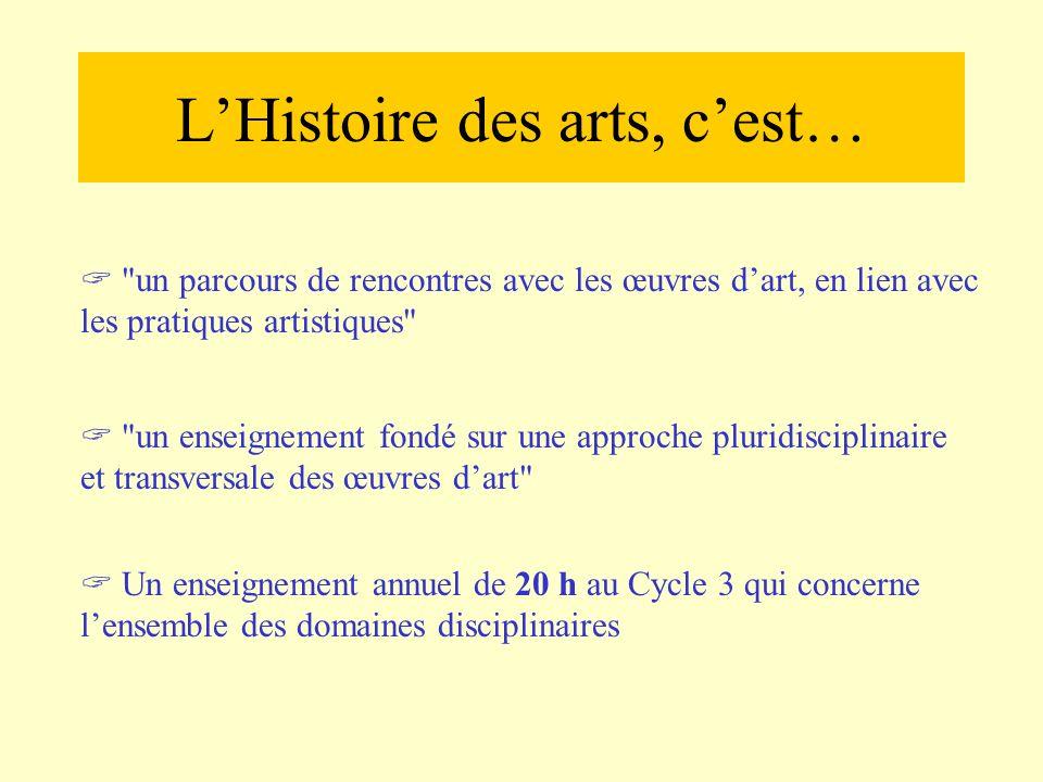 L'Histoire des arts, c'est…