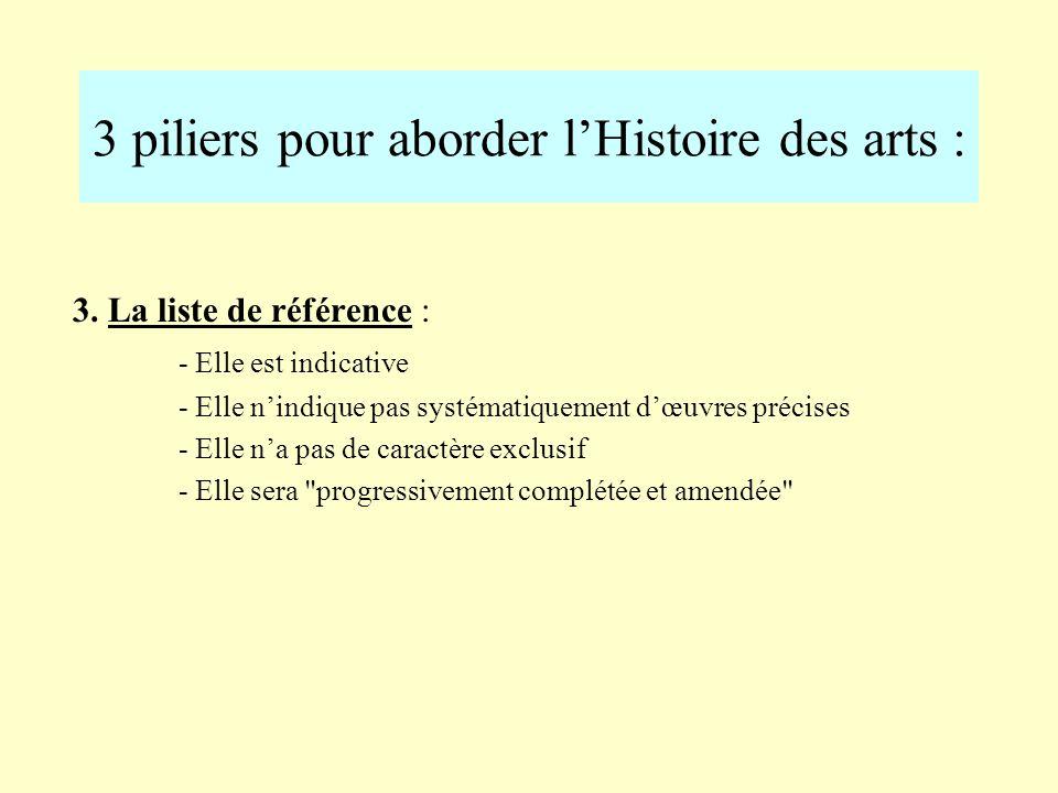 3 piliers pour aborder l'Histoire des arts :