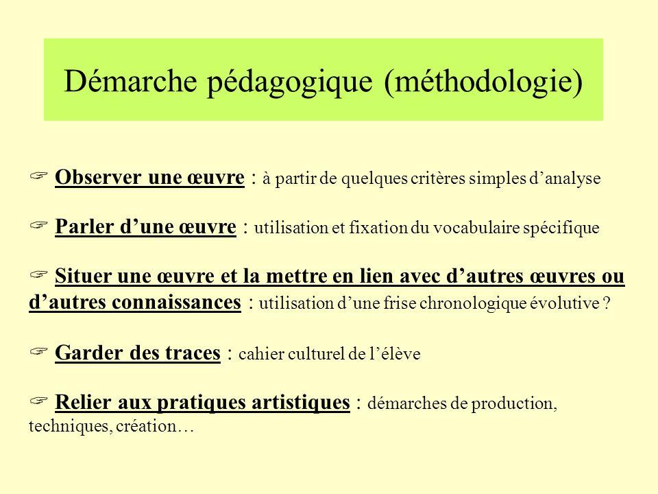 Démarche pédagogique (méthodologie)