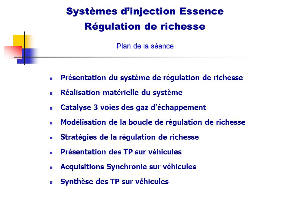 Systèmes d'injection Essence Régulation de richesse