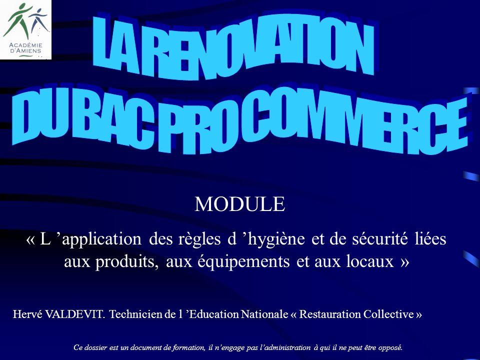 LA RENOVATION DU BAC PRO COMMERCE MODULE