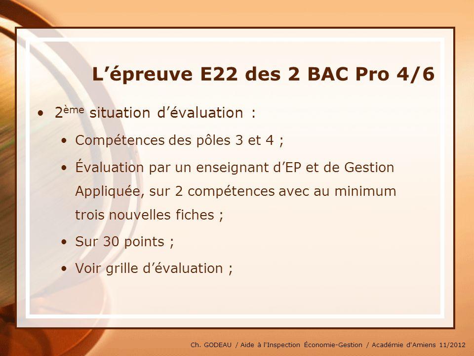 L'épreuve E22 des 2 BAC Pro 4/6
