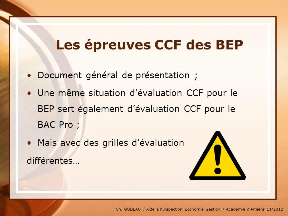 Les épreuves CCF des BEP