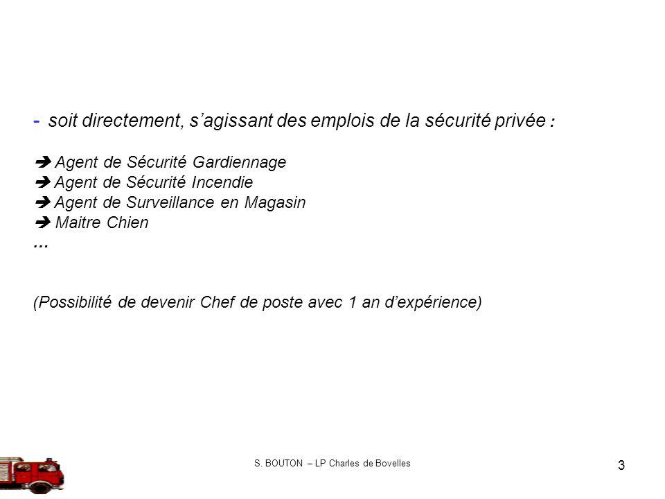 S. BOUTON – LP Charles de Bovelles