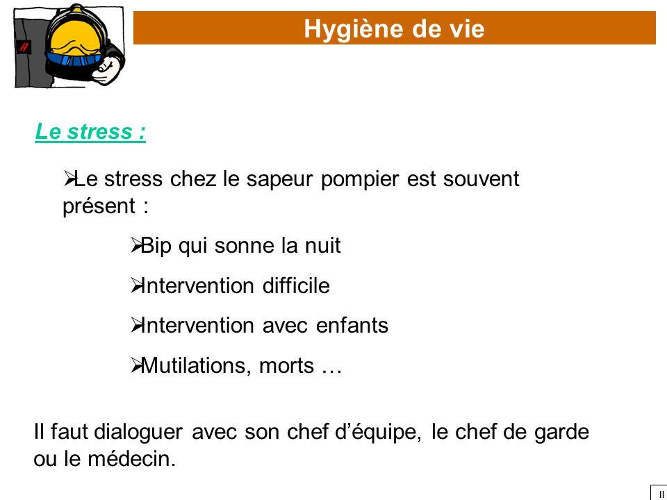 Hygiène de vie Le stress :