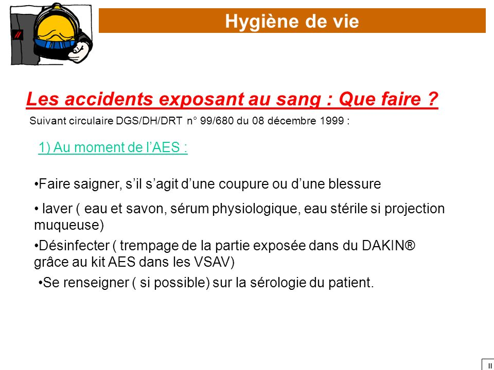 Les accidents exposant au sang : Que faire