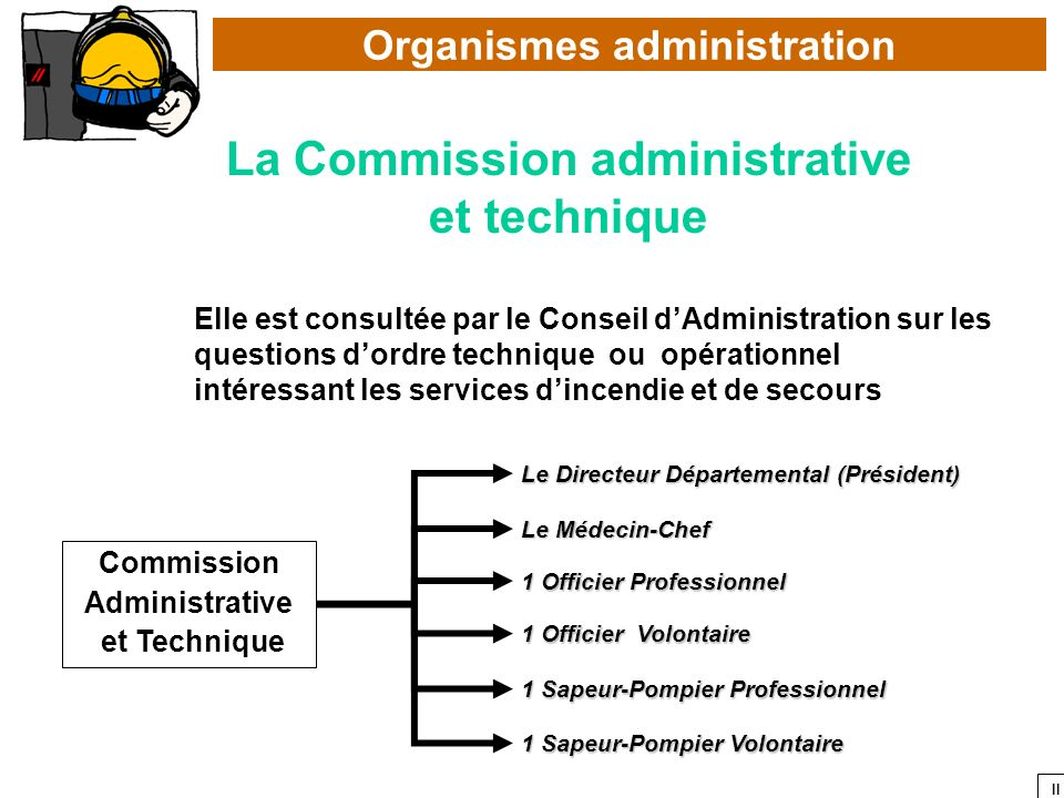 Organismes administration La Commission administrative
