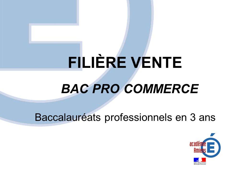 FILIÈRE VENTE BAC PRO COMMERCE
