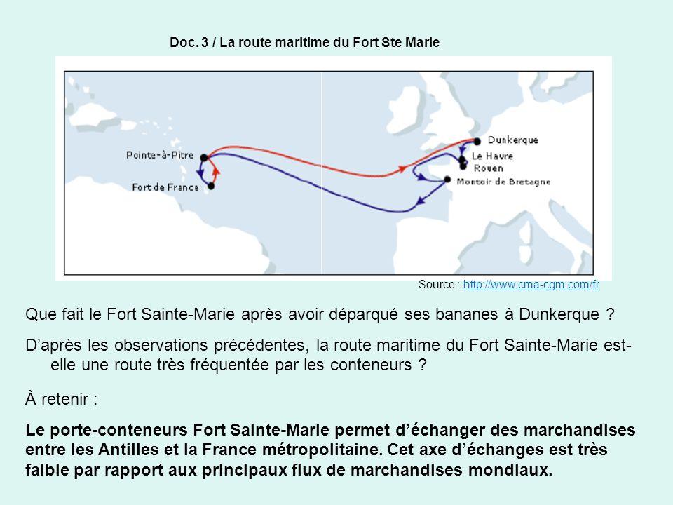 Doc. 3 / La route maritime du Fort Ste Marie