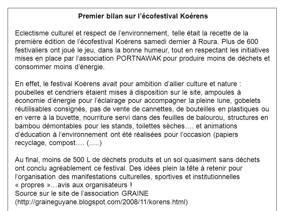 Premier bilan sur l'écofestival Koérens