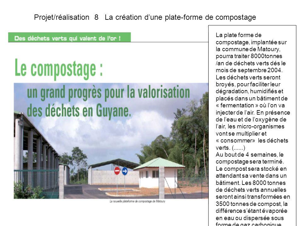 Projet/réalisation 8 La création d'une plate-forme de compostage