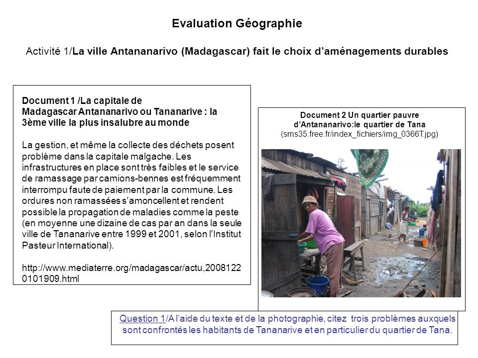 Evaluation Géographie