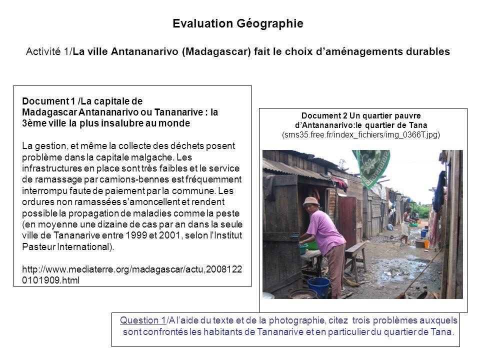 Evaluation Géographie