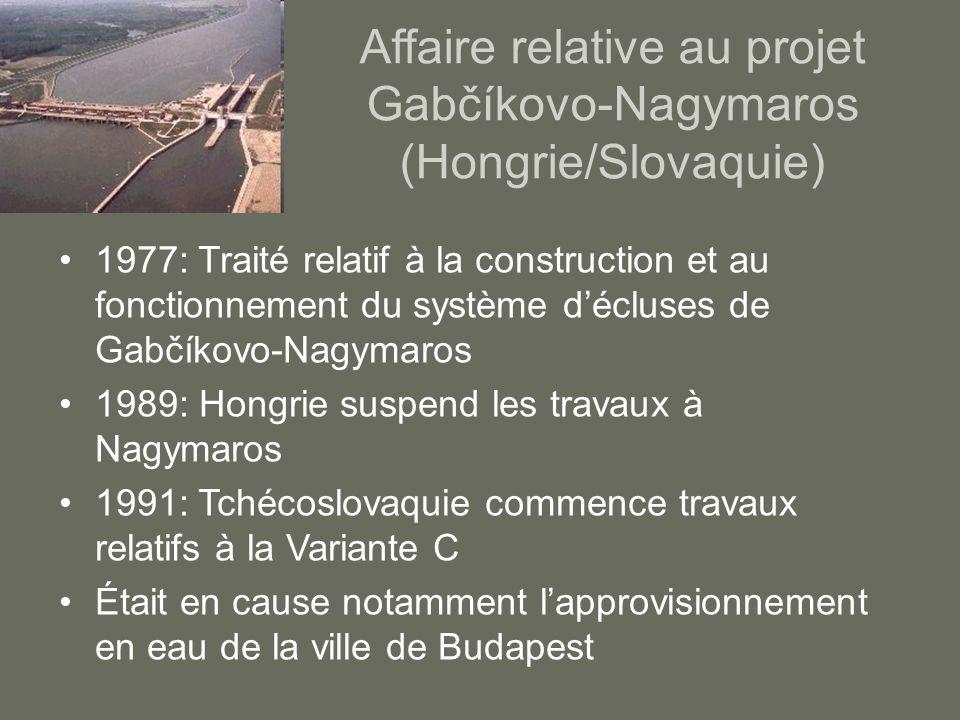 Affaire relative au projet Gabčíkovo-Nagymaros (Hongrie/Slovaquie)