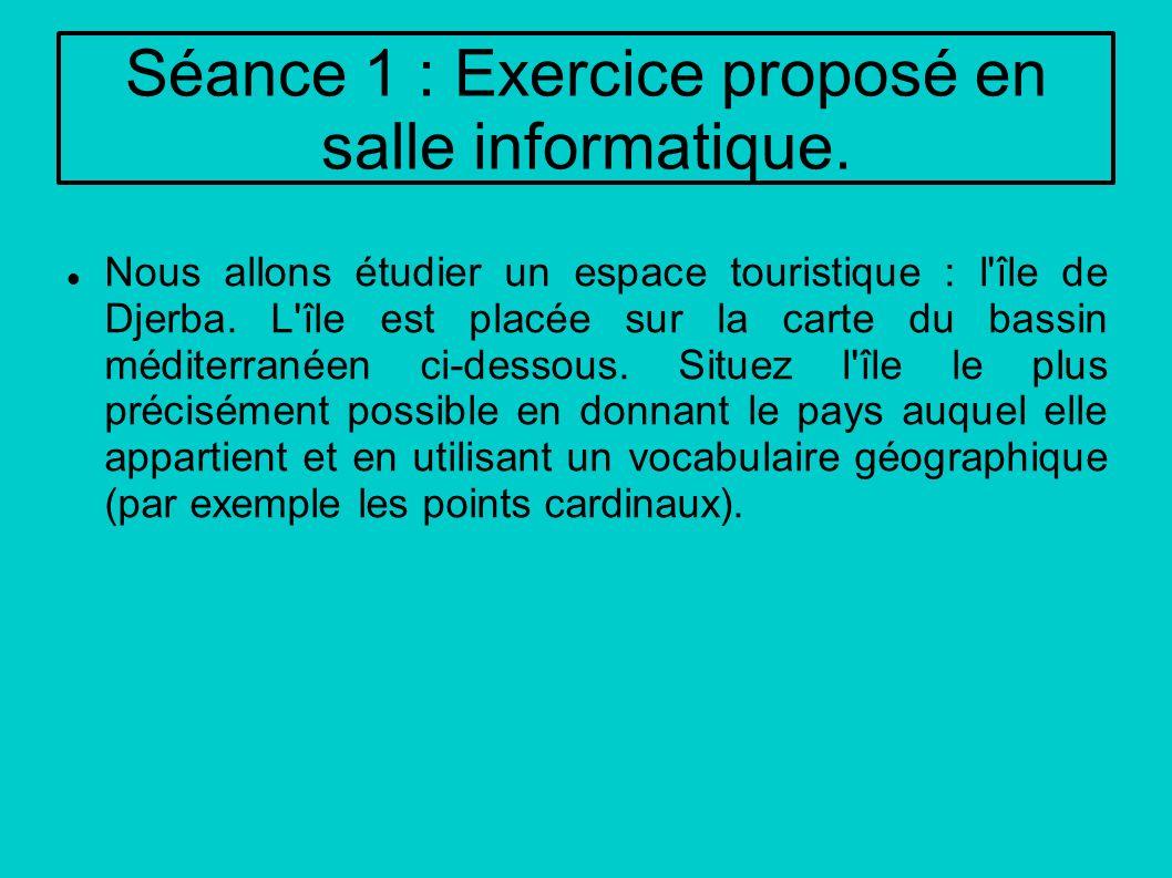 Séance 1 : Exercice proposé en salle informatique.