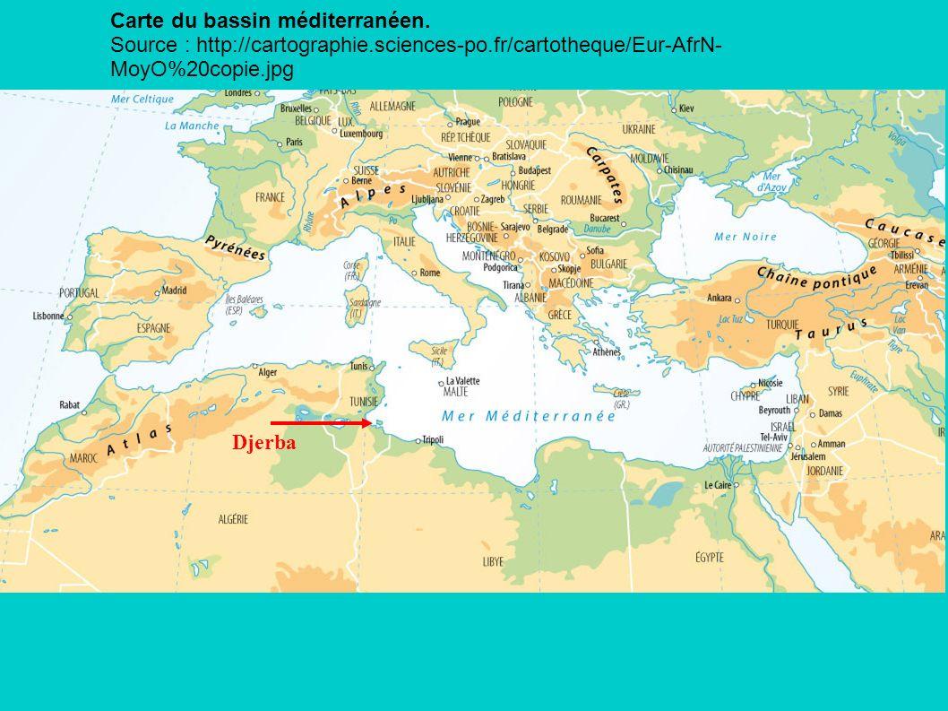 Carte du bassin méditerranéen.