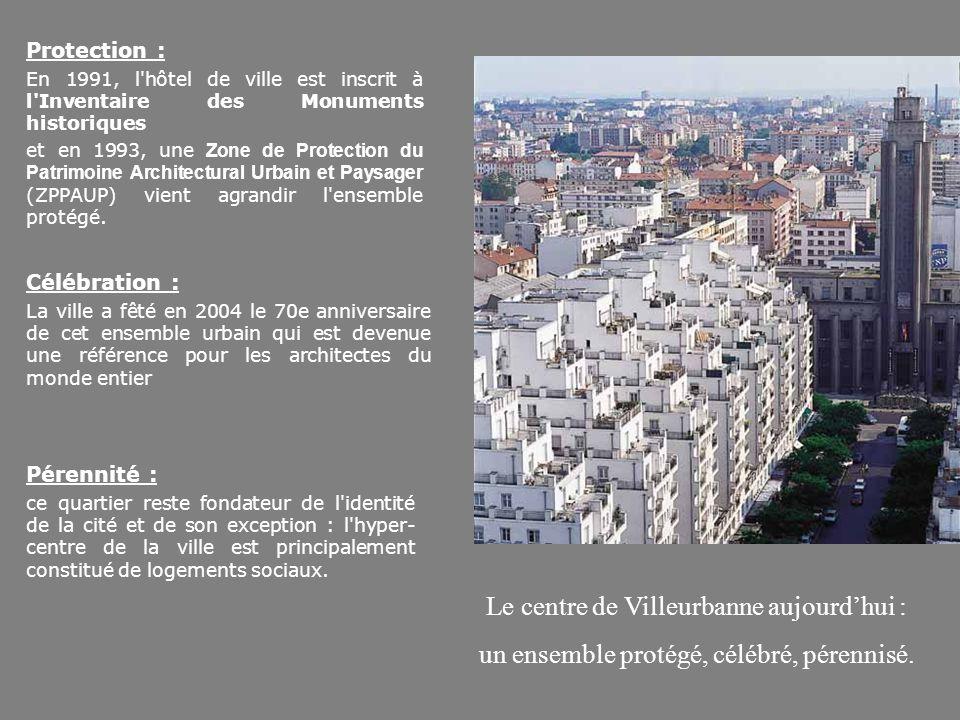 Le centre de Villeurbanne aujourd'hui :