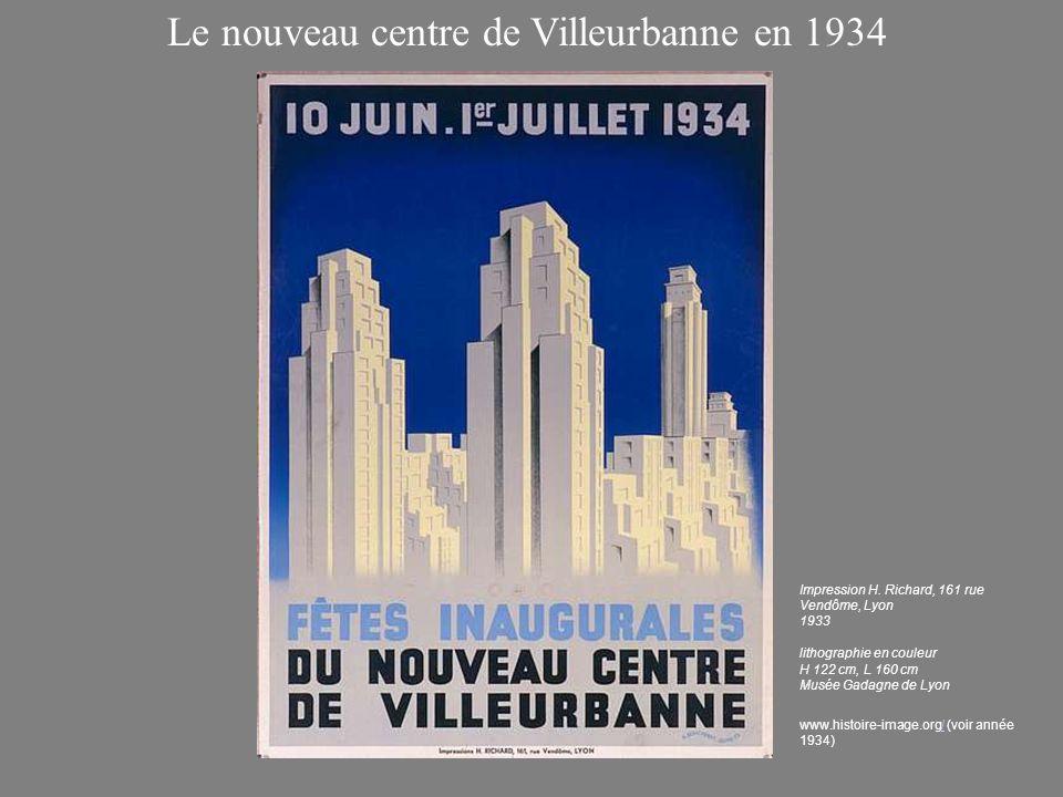 Le nouveau centre de Villeurbanne en 1934