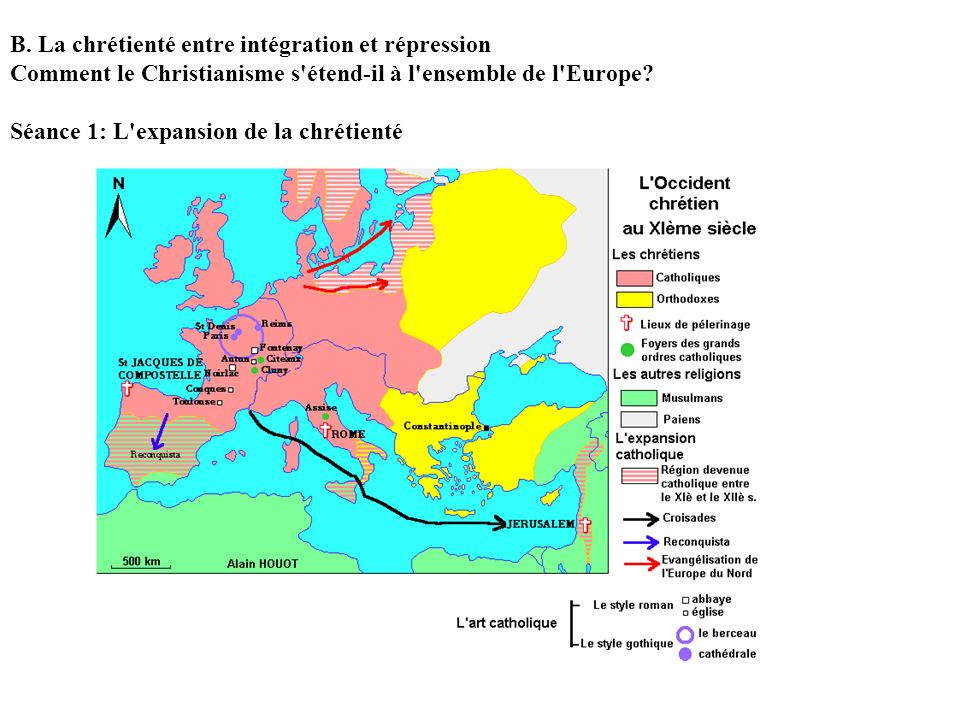 B. La chrétienté entre intégration et répression