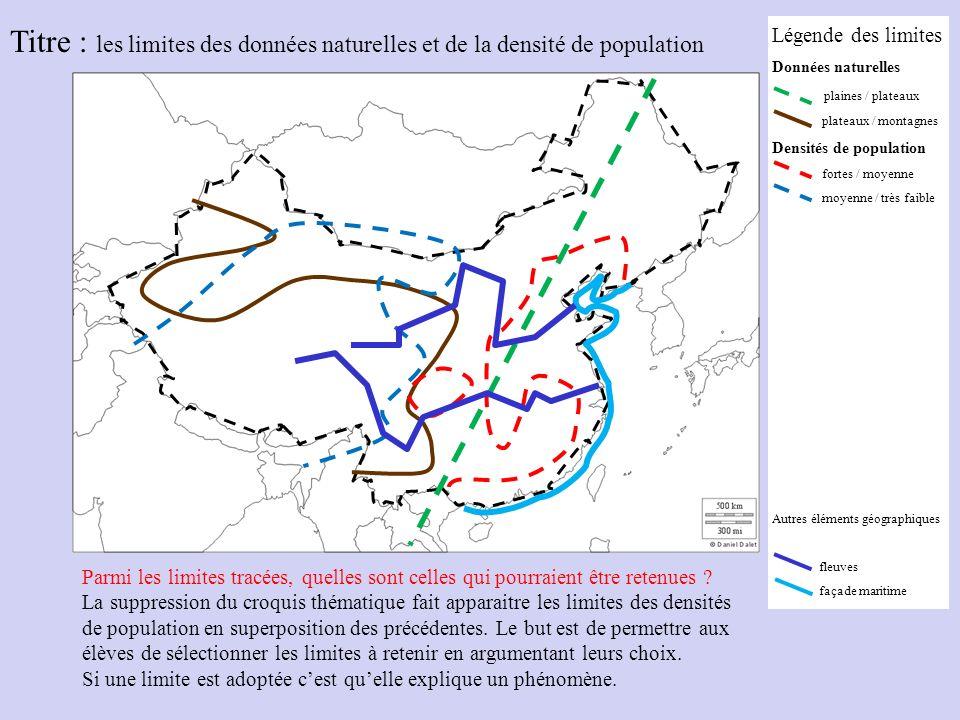 Titre : les limites des données naturelles et de la densité de population