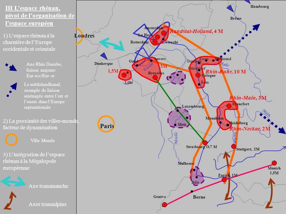 III L'espace rhénan, pivot de l'organisation de l'espace européen