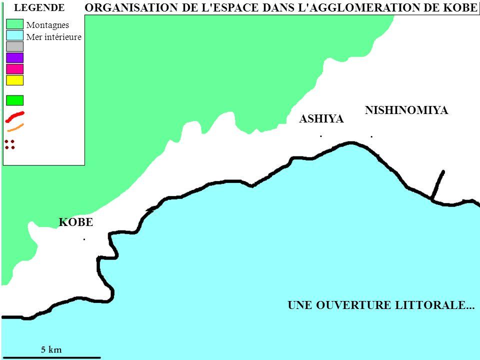 ORGANISATION DE L ESPACE DANS L AGGLOMERATION DE KOBE