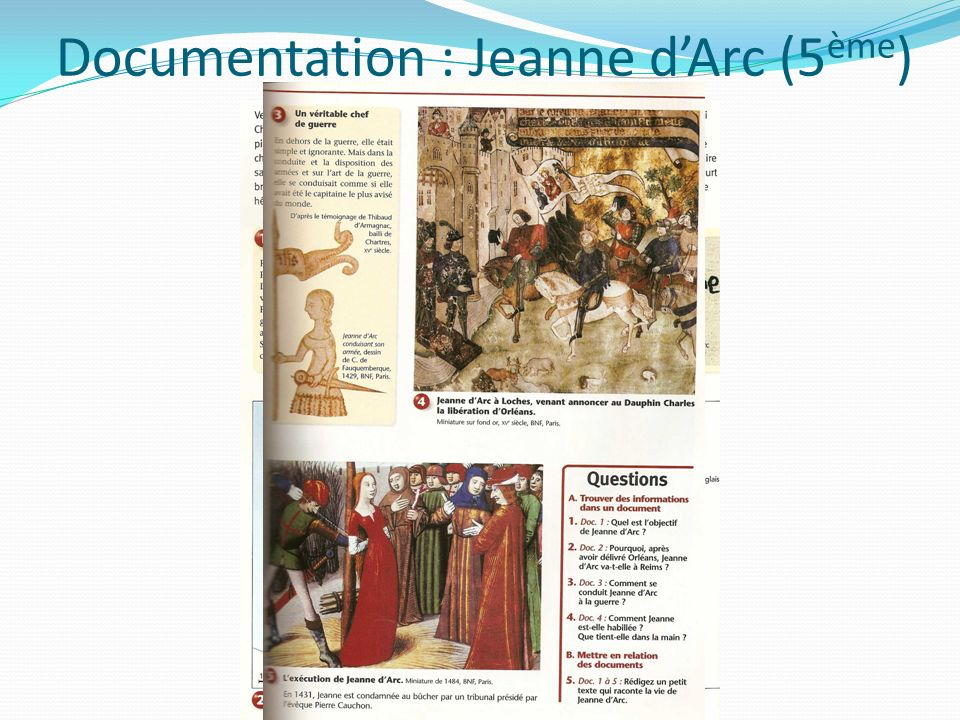 Documentation : Jeanne d'Arc (5ème)